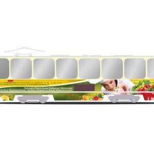 reklama na tramwajach wizualizacja