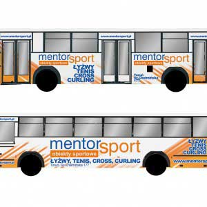 reklama na autobusach wizualizacja