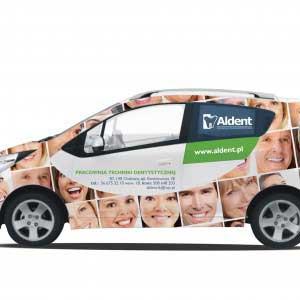 reklama na samochodach wizualizacja