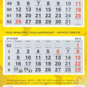kalendarz - awix oil