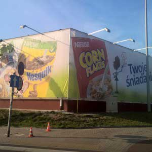 siatka - montarz, reklama zewnętrzna