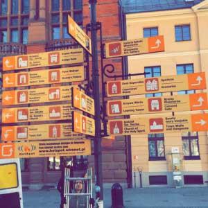tabliczki informacyjne - Toruń